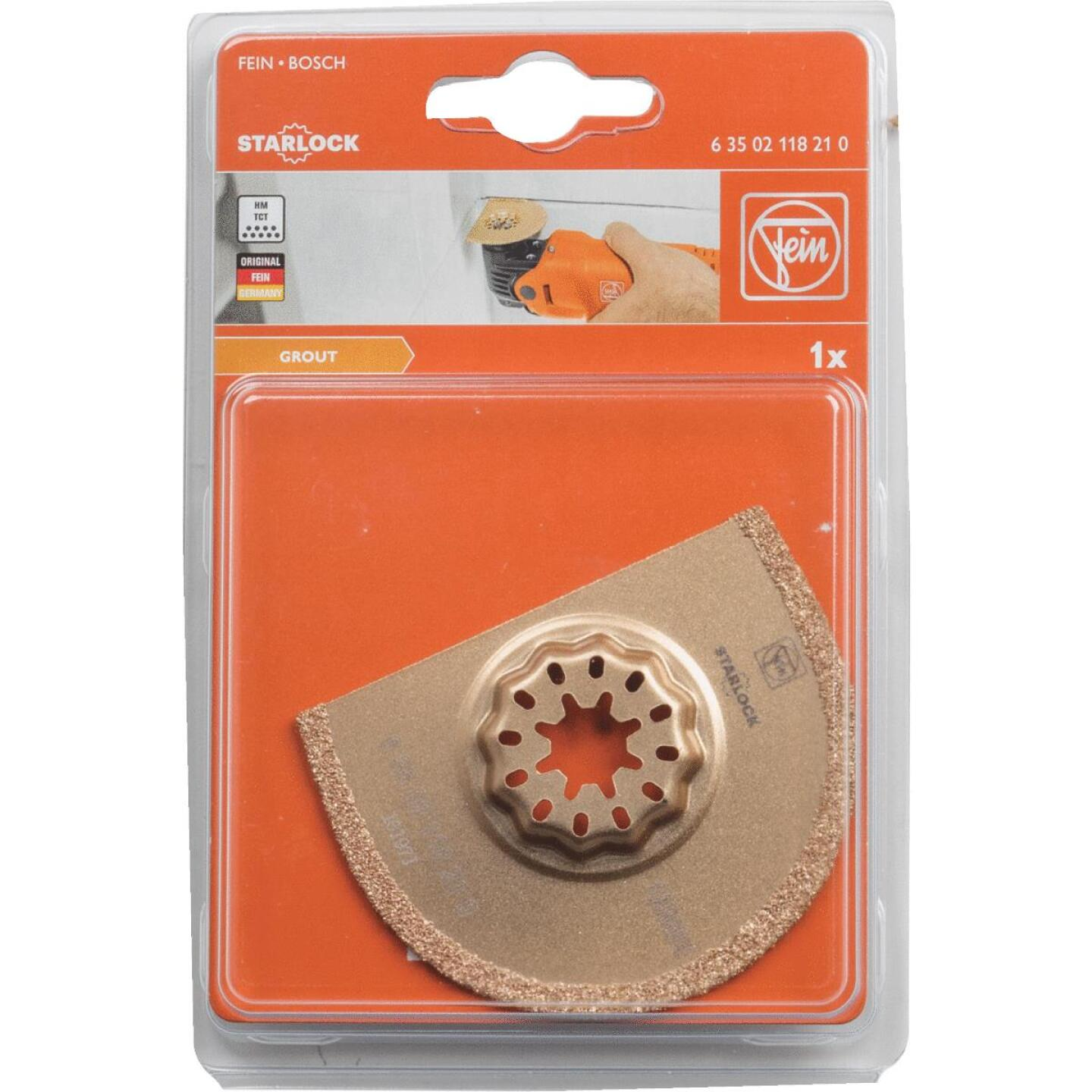 Fein Starlock 2-1/2 In. Carbide Grout Oscillating Blade Image 2