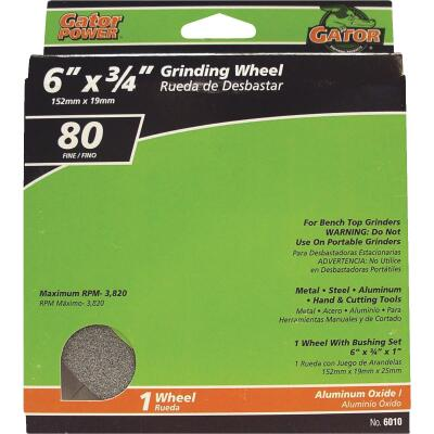 "Gator Blade 6 In. 3/4 In. Adjustable - 1"", 3/4"", 5/8"", 1/2"" Bench Grinding Wheel"