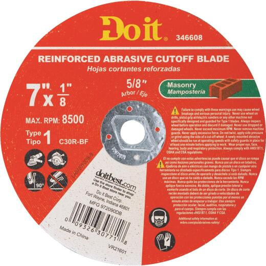 Do it Type 1 7 In. x 1/8 In. x 5/8 In. Masonry Cut-Off Wheel