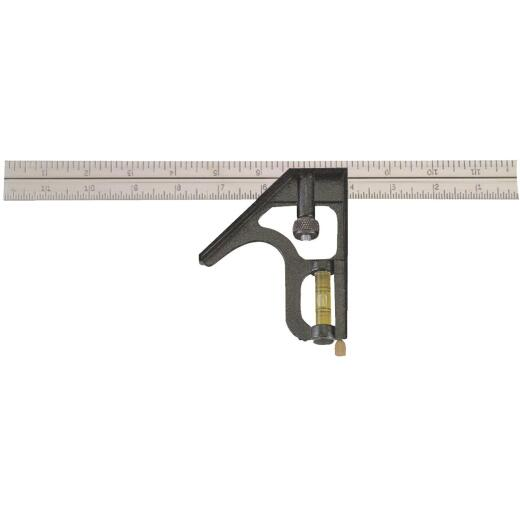 Johnson Level 12 In. English/Metric Professional Combination Square
