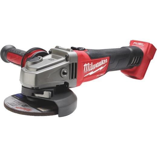 Milwaukee M18 FUEL 18 Volt Lithium-Ion Brushless 4-1/2 In. - 5 in. Cordless Angle Grinder, Slide Switch Lock-On (Bare Tool)