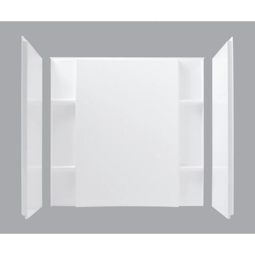 Sterling 3-Piece 48 In. W. x 74-1/2 In. H. x 36 In. D. White Shower Wall Set