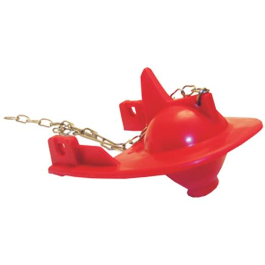 Lasco 3 In. Red Rubber Fin Back Toilet Flapper with Chain