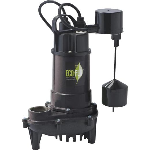 ECO-FLO 1/3 HP Submersible Cast Iron Sump Pump