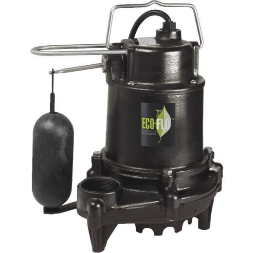 ECO-FLO 1/2 HP High Efficiency Cast Iron Submersible Sump Pump