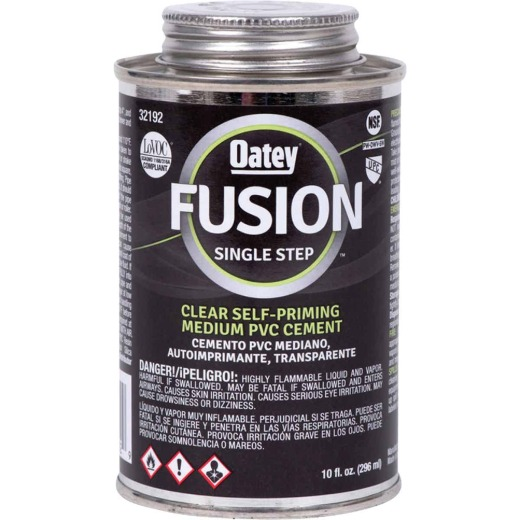 Oatey Fusion Single Step 10 Oz. Medium Bodied Clear Priming PVC Cement