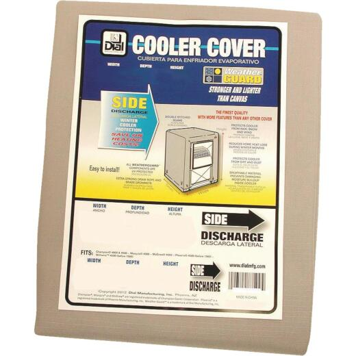 Dial 28 In. W x 28 In. D x 34 In. H Polyester Evaporative Cooler Cover, Side Discharge