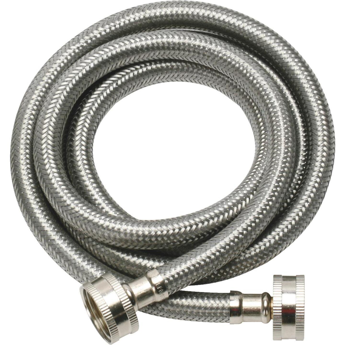 Fluidmaster 3/4 x 3/4 In. Hose Fitting x 60 In. L Braided Stainless Steel Washing Machine Hose (2-Pack) Image 2