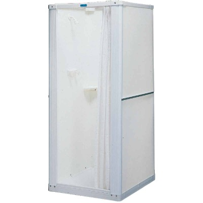 Mustee Durastall 32-5/8 In. W x 74-3/4 In. H x 32-5/8 In. D White Thermoplastic Shower Stall