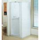 Mustee Durastall 36 In. W. x 36 In. D. White Thermoplastic Shower Stall Image 1
