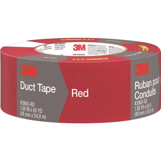 3M 1.88 In. x 60 Yd. Colored Duct Tape, Red