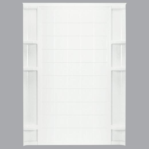 Sterling 60 In. W x 75-3/4 In. H White Vikrell Shower Back Wall