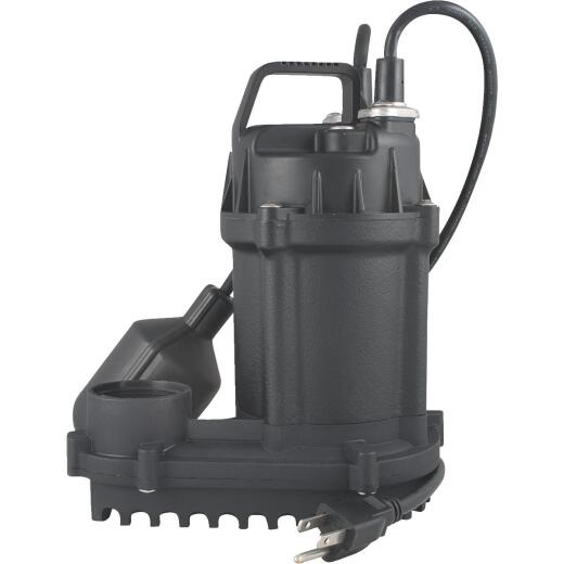 Do it Best 1/3 HP 115V Cast-Iron Submersible Sump Pump