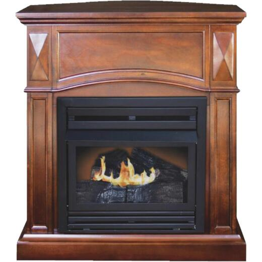 KozyWorld Natural Vintage Cherry Natural/LP Gas 800 sq ft Gas Fireplace