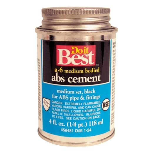 Do it Best 4 Oz. Medium Bodied Black ABS Cement
