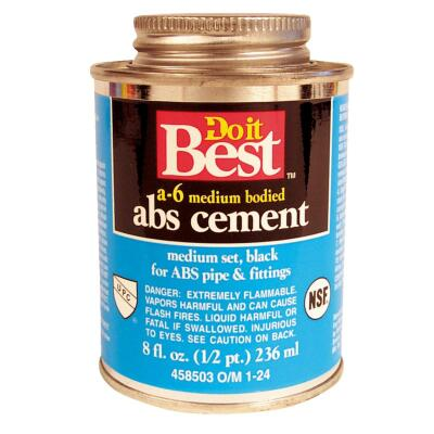 Do it Best 8 Oz. Medium Bodied Black ABS Cement