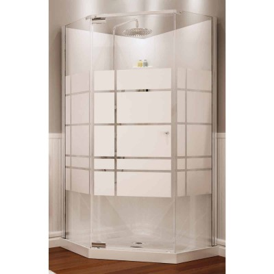 Maax 36 In. W. x 74 In. H. x 36 In. L. White Polystyrene Shower Stall