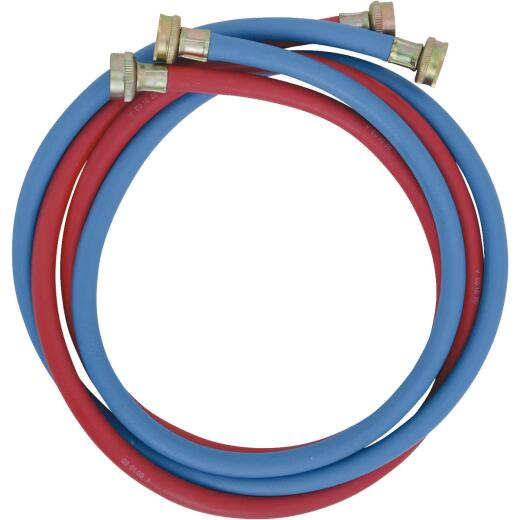 Do it Best 3/8 In. X 6 Ft. Reinforced EPDM Rubber Washing Machine Hose (2-Pack)