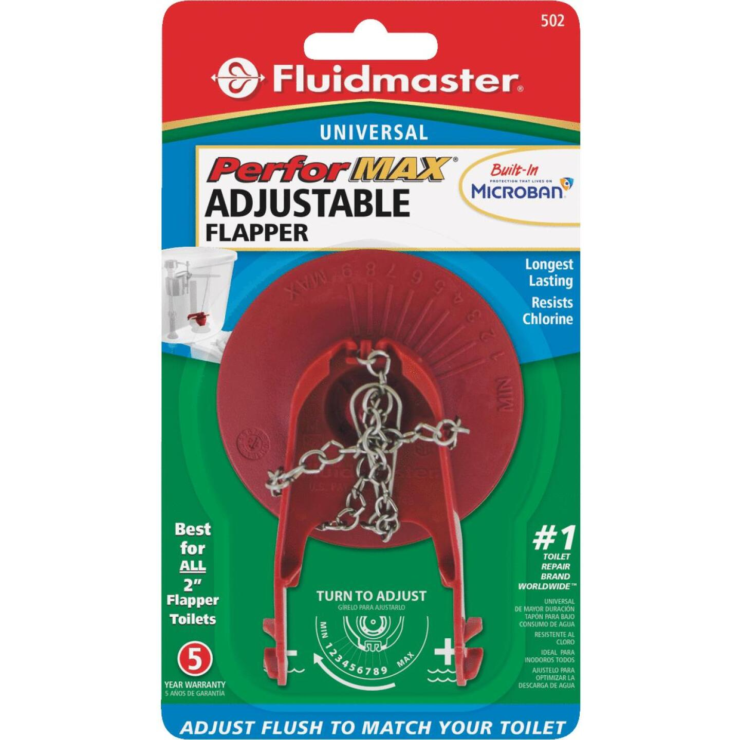 Fluidmaster PerforMAX 2 In. Rubber Universal Water-Saving Flapper Image 4