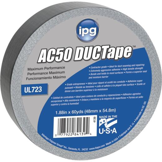 Intertape AC50 DUCTape 1.88 In. x 60 Yd. Max Contractor Grade Duct Tape, Silver