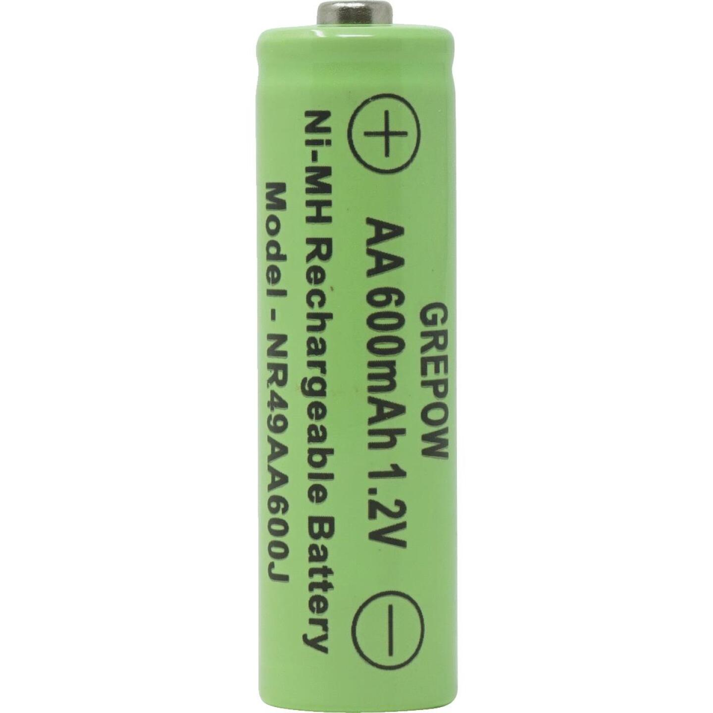 Moonrays Solar Rechargable AA Replacement Battery (4-Pack) Image 1