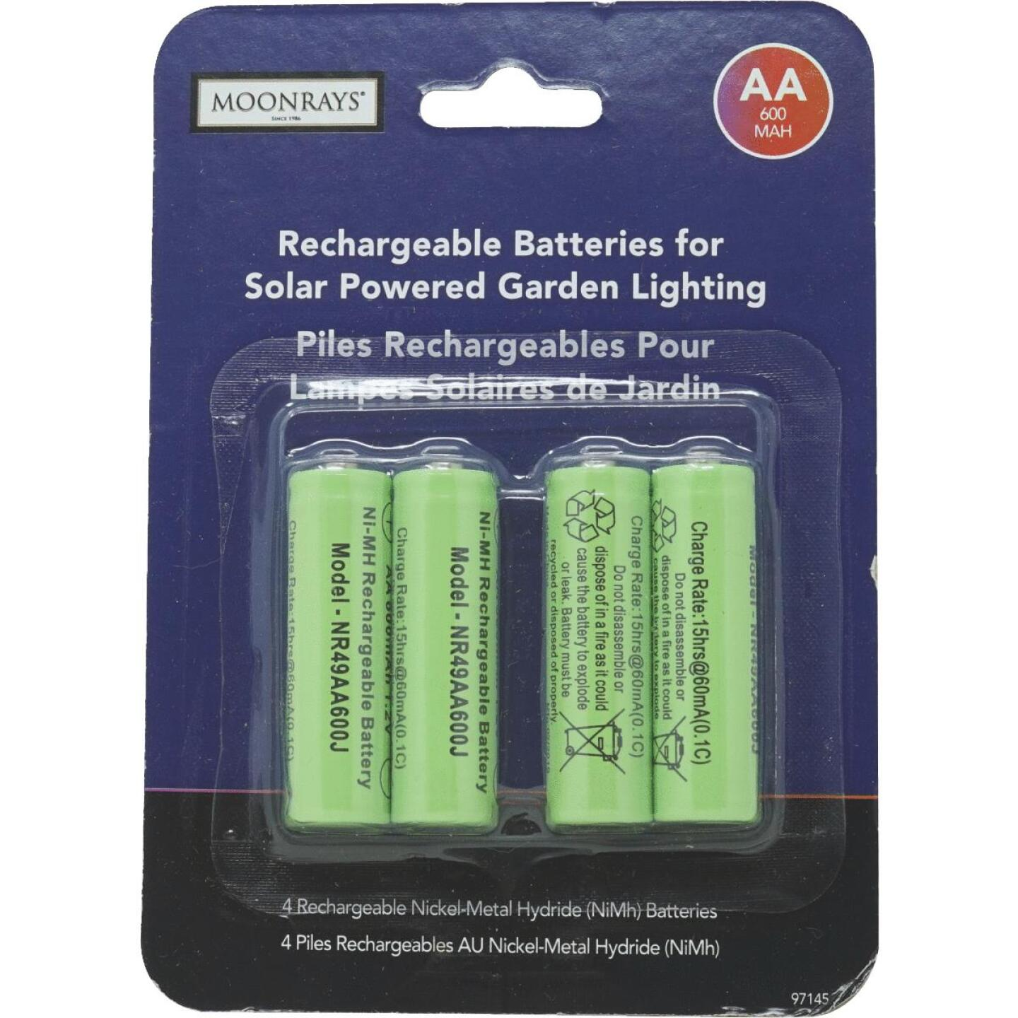 Moonrays Solar Rechargable AA Replacement Battery (4-Pack) Image 2