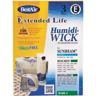 BestAir Extended Life Humidi-Wick H100 Humidifier Wick Filter (3-Pack)