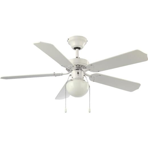 Home Impressions Micro Breeze 42 In. White Ceiling Fan with Light Kit