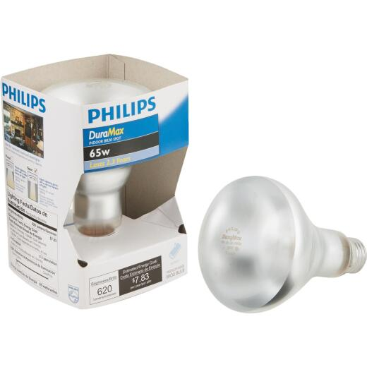 Philips DuraMax 65W Frosted Medium R30 Reflector Incandescent Spotlight Light Bulb