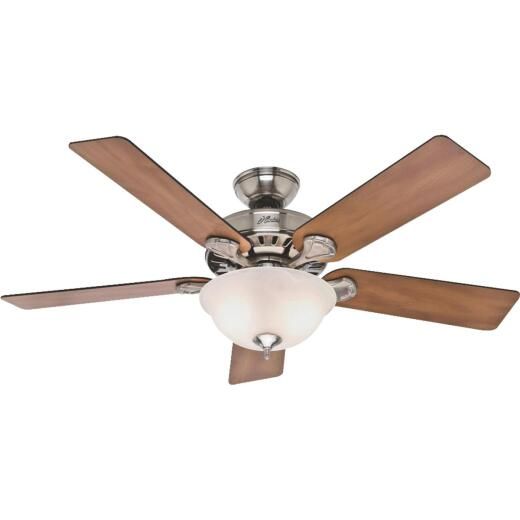 Hunter Pro's Best 5-Minute 52 In. Brushed Nickel Ceiling Fan with Light Kit