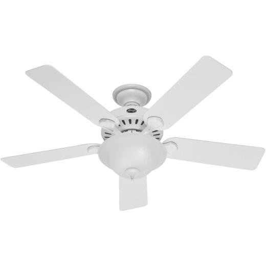 Hunter Pro's Best 5-Minute 52 In. White Ceiling Fan with Light Kit