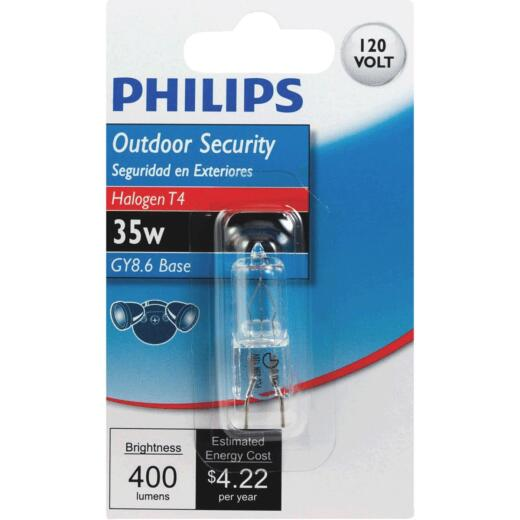 Philips 35W 120V Clear GY8.6 Base T4 Halogen Special Purpose Light Bulb