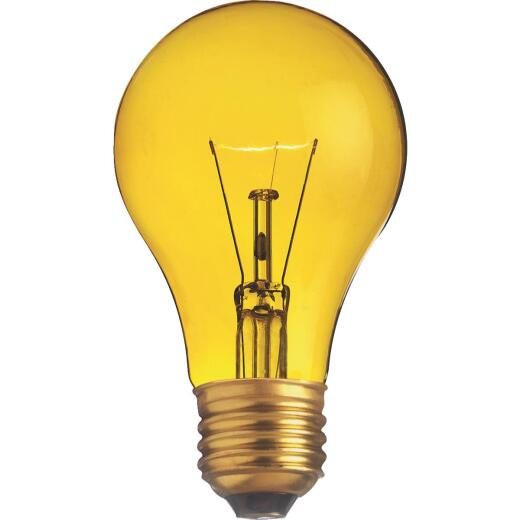 Satco 25W Transparent Yellow Medium A19 Incandescent Party Light Bulb
