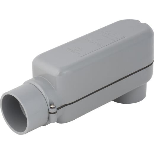 Madison Electric EZLB 2 In. Gray Molded PVC Service Entrance Conduit Body