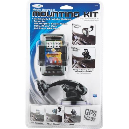 Custom Accessories Windshield or Dashboard Mount Black GPS/Phone Holder Mounting Kit