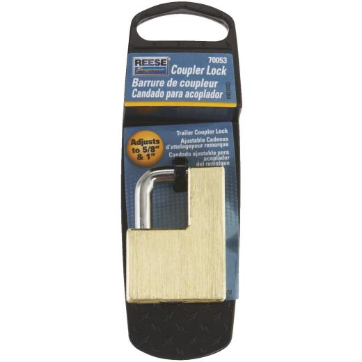 Reese Towpower Brass Adjusts 5/8 In. to 1 In. Latch Coupler Lock