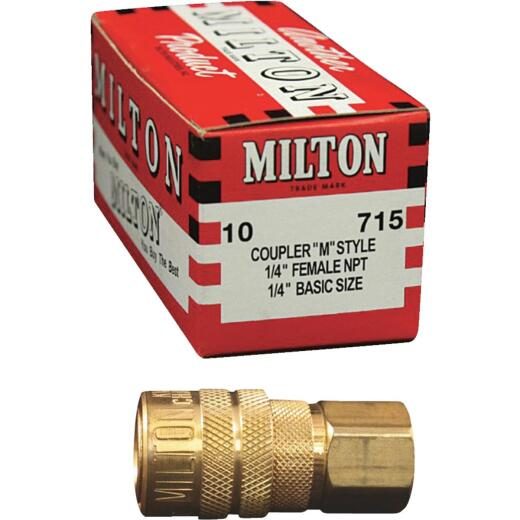 Milton Kwik Change M-Style 1/4 In. Female NPT Coupler (10-Pack)