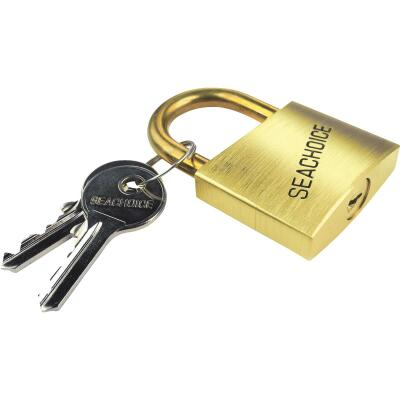 Seachoice 1-1/4 In. Solid Brass Body & Hasp Padlock