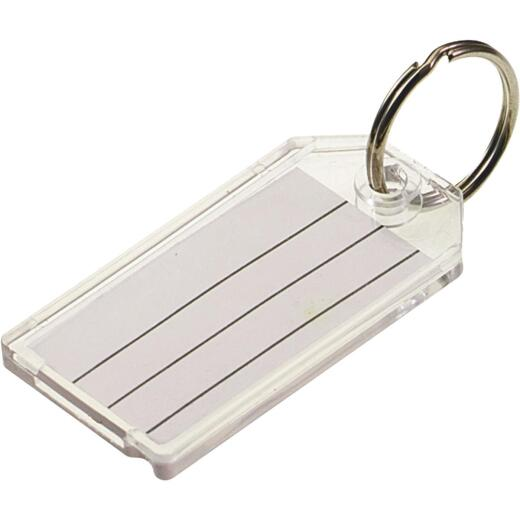 Lucky Line 1-1/8 In. x 2-1/4 In. Clear I.D. Key Tag, (2-Pack)