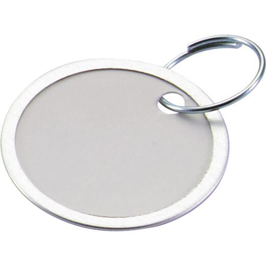 Lucky Line 1-1/4 In. Metal-Rimmed Paper Key Tag with Ring, (25-Pack)