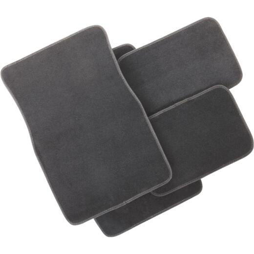 Custom Accessories Gray Carpeted Floor Mat (4-Piece)