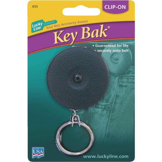 Lucky Line Clip-On 24 In. Black Retractable Key Chain
