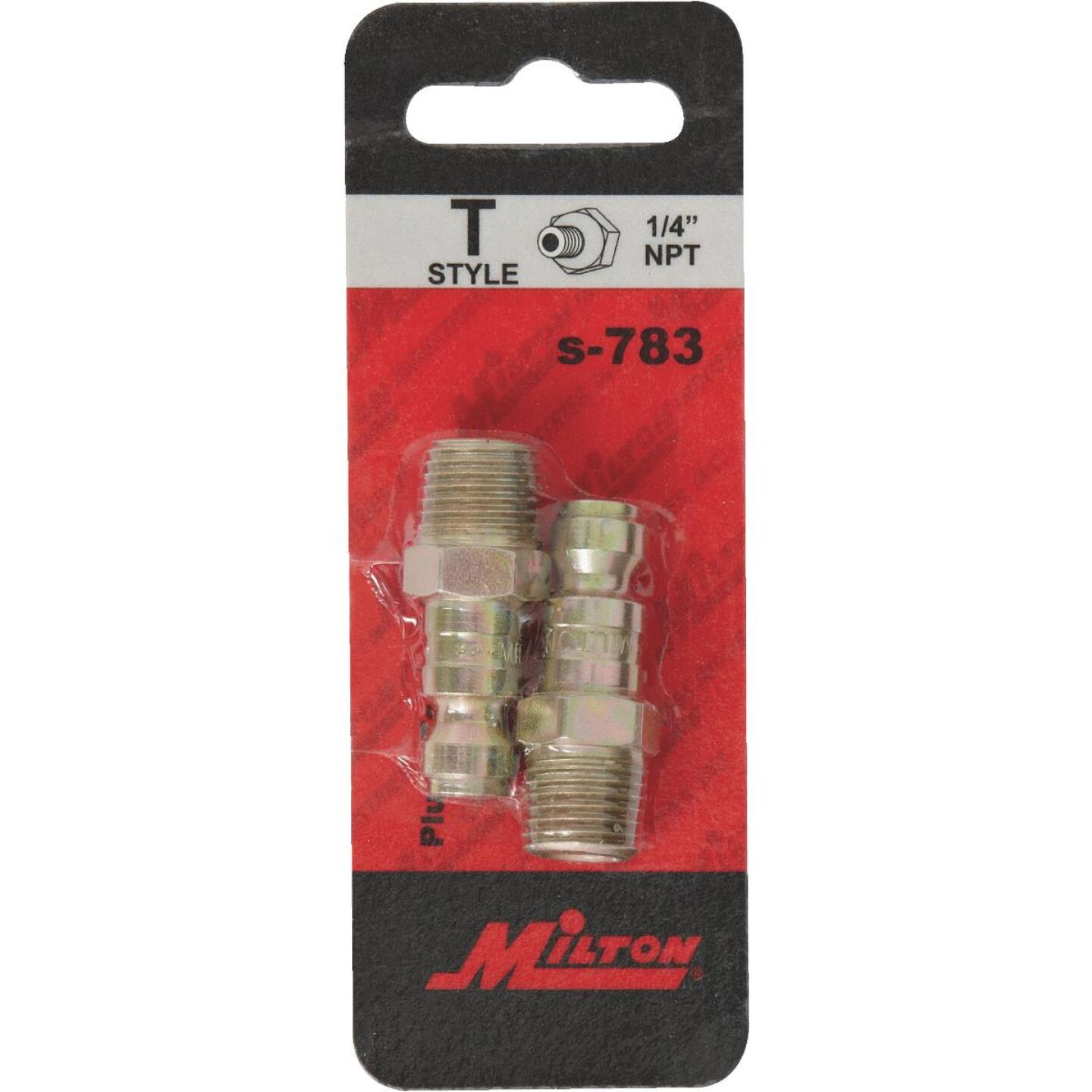 Milton 1/4 In. FMPT Steel-Plated T-Style Plug Image 2