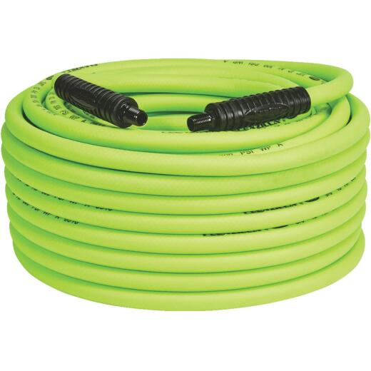 Flexilla 3/8 In. x 100 Ft. Polymer-Blend Air Hose with 1/4 In. MNPT Fittings