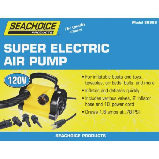 Seachoice 120 Volt 0.78 psi General Inflatables and Boating Super Electric Inflator