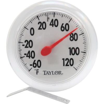 "Taylor 6"" Fahrenheit -60 To 120 Outdoor Wall Thermometer"