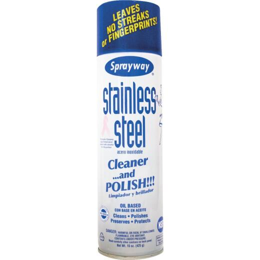Sprayway 15 Oz. Oil-Based Stainless Steel Cleaner