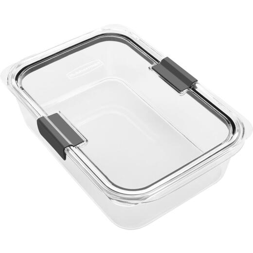 Rubbermaid Brilliance 9.6 C. Clear Rectangle Food Storage Container