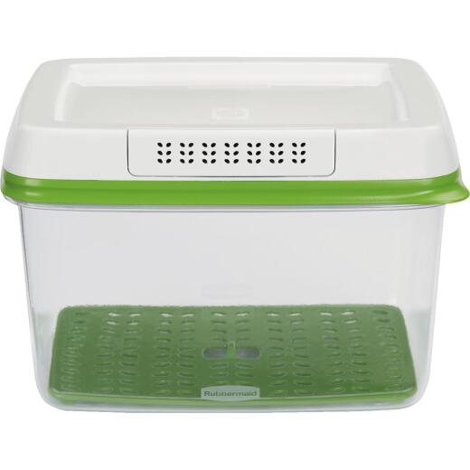 Rubbermaid FreshWorks Produce Saver 17.3 C. Clear Rectangle Food Storage Container with Lid