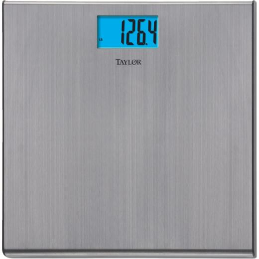 Taylor Digital 440 Lb. Stainless Steel Bath Scale, Silver